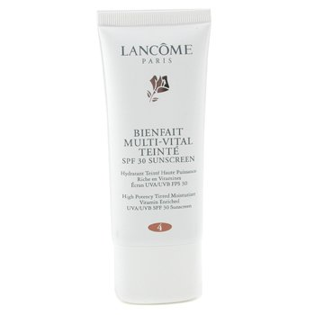 Lancome-Bienfait Multi Vital Teinte High Potency Tinted Moisturizer SPF30 - # 4 Bronze ( Made in USA )
