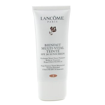 Lancome-Bienfait Multi Vital Teinte High Potency Tinted Moisturizer SPF30 - # 3 Bisque ( Made in USA )