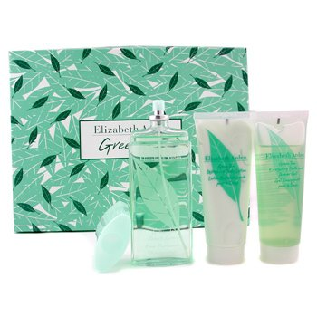Elizabeth Arden-Green Tea Coffret:  Eau Parfumee Spray 100ml + Body Lotion 100ml + Shower Gel 100ml