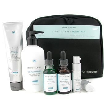 Skin Ceuticals-Skin System I - Maintain: C+AHA + Phyto+ + Physical UV Defense + Gentle Cleanser + Lip Repair + Bag