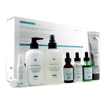 Skin Ceuticals-Skin Brightening System: Cleanser + Toner + CE Feralic + Phyto + Line Defense + Retinol + Sunblock