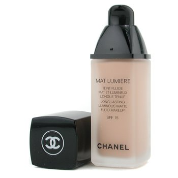 Chanel Mat Lumiere Long Lasting Luminous Matte Fluid Makeup SPF15 - # 42 Petale  30ml/1oz