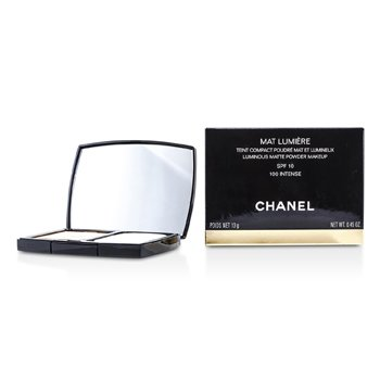 Chanel Mat Lumiere Luminous Matte Powder Makeup SPF10 - # 100 Intense  13g/0.45oz