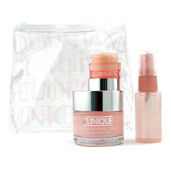 Clinique-Moisture Surge Set: Skin Relief 50ml + Face Spray 30ml + All About Eyes 7ml + Bag
