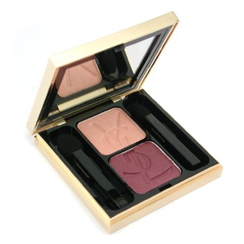 Yves Saint Laurent-Ombre Duo Lumiere - No. 03 Fresh Peach/ Moonlit Burgundy