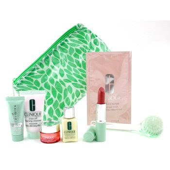 Clinique-Travel Set: DDML + All About Eye Rich + Super City Block SPF40 + Foam Cleanser + Mask + Lipstick