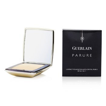 Guerlain Parure Compact Foundation with Crystal Pearls SPF20 - # 02 Beige Exquis  9g/0.31oz
