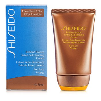ShiseidoBrilliant Bronze Tinted Self-Tanning Cream - Medium Tan (For Face) 50ml/1.8oz