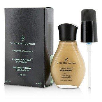 Vincent Longo Liquid Canvas Dew Finish Base de Maquillaje - Base Maquillaje L�quida SPF15 ( Brillo Radiante ) - # 5 Medium Beige  30ml/1oz