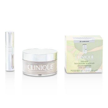 Clinique-Blended Face Powder + Brush - No. 20 Invisible Blend