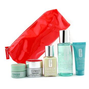Clinique-Travel Set: Moisture Lotion 2 + DDML + Turnaround Concentrate + Superdefense + Night Cream + Bag