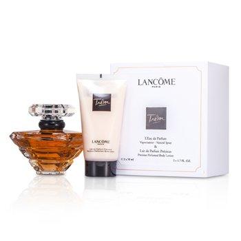 LancomeTresor Coffret: L'Eau De Parfum Spray 50ml/1.7oz + Body Lotion 50ml/1.7oz 2pcs