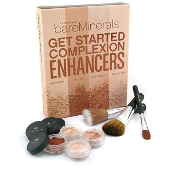 Bare Escentuals-Get Started Complexion Enhancers 7 Piece Kit ( with Instructional Brochure & Bonus DVD )