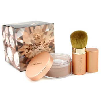 Bare Escentuals-Precious Diamonds Beauty Duo: BareMinerals Precious Diamond Face & Body Color + Retractable Kabuki Brush