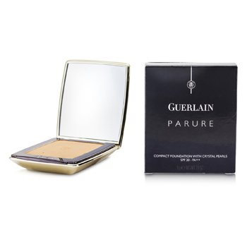 Guerlain-Parure Compact Foundation with Crystal Pearls SPF20 - # 04 Beige Ultime
