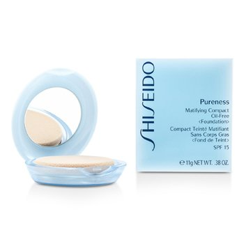 Shiseido Pureness Matifying Compact Oil Free Foundation SPF15 (Case + Refill) – # 10 Light Ivory 11g/0.38oz