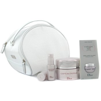 Christian Dior-Capture Totale Coffret: Creme 50ml + Wrinkle Eye Crm 5ml + Capture Totale 10ml + Bag