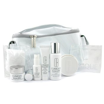 Clinique-Derma White Travel Set: Ltn 50ml + Moist. Crm 15ml + Essc. 9ml + City Block SPF40 15ml + Moist. Bar