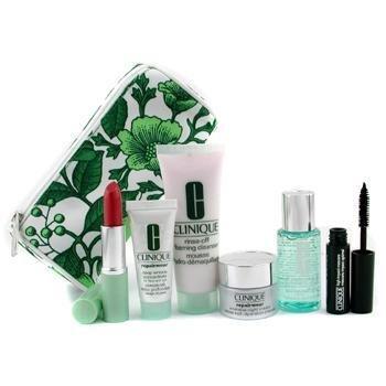 Clinique-Repairwear Set: Cleanser 50ml + Ltn 2 30ml + Night Crm 15ml + Conc. 15ml + Lipstick + Mascara 4g + B