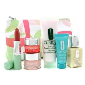 Clinique-Travel Set: Cleanser 50ml + DDML 30ml + Moisture Surge Extra 15ml + All About Eyes Rich 7ml + Conc.