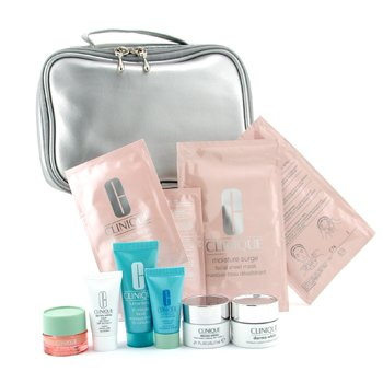 Clinique-Travel Set: Turnaround Renewer + Turnaround Mask + Eye Cream + Sun Block + Cream + Foundation + 2xMa
