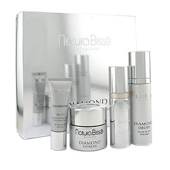 Natura Bisse-Diamond Coffret: Clyco Peel 30ml + Cream 50ml + Eye Cream 25ml + Drops 50ml