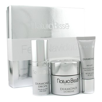 Natura Bisse-Diamond Coffret: Cream 50ml + Eye Cream 25ml + Drops 25ml