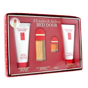 Elizabeth Arden-Red Door Coffret: Eau De Toilette Spray 25ml+ Parfum 5ml+ Body Lotion 100ml+ Shower Gel 100ml