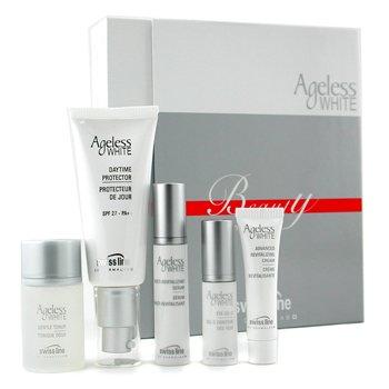 Swissline-Ageless White Coffret: 1x Daytime Protector 40ml + Toner 30ml + Eye Gel 5ml + Cream 10ml + Serum 10m
