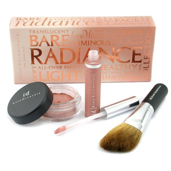 Bare Escentuals-Bare Radiance Kit: Face Color + Lip Gloss + Angled Face Brush