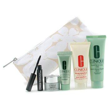 Clinique-Travel Set: Facial Soap + Continuous Cream + Repairwear Eye Cream + Body Butter + Mascara