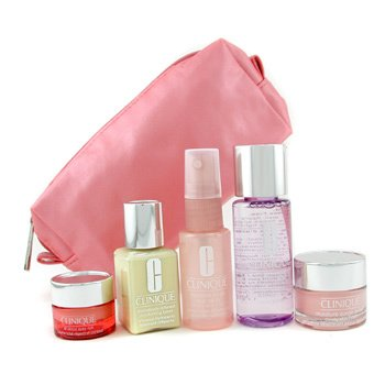 Clinique-Travel Set: Moisture Surge Spray + Moisture Surge Cream + Makeup Remover + DDML + All About Eyes