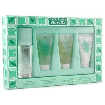 Elizabeth Arden-Green Tea Coffret: Eau Parfumee Spray 50ml+ Shower Gel 50ml+ Shampoo 50ml+ Conditioner 50ml