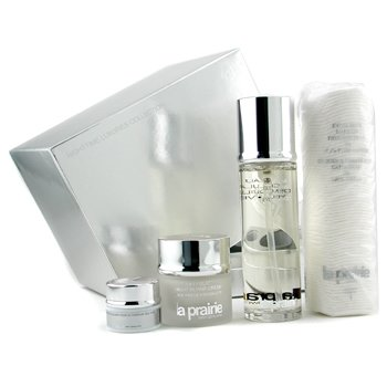 La Prairie-Nighttime Luxuries Set: Cellular Cleansing Water + Night Repair Cream + Eye Contour Cream + Make Up