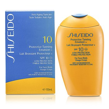 Shiseido-Protective Tanning Emulsion N SPF 10 ( For Face & Body )