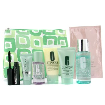 Clinique-Travel Set: Liquid Soap+ Ltn 2+ Take The Day Off+ DDML+ City Block+ Mascara+ Mask+ Bag
