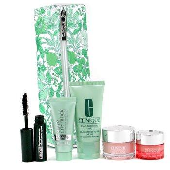 Clinique-Travel Set: Liquid Facial Soap + Super City Block + Moisture Surge Cream + All About Eye Rich + Masc