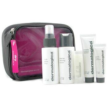 Dermalogica-Dry Skin Kit: Cleanser 50ml+ Toner 50ml+ Most. Balance 22ml+ Exfoliant 10ml+ Lip Trt 4.5g+ Bag