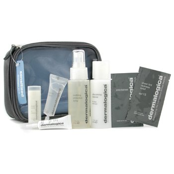 Dermalogica-Sensitized Skin Kit: Cleanser+ Protection Spray+ Barrier Repair+ Eye+ Lip Trt+ 2x Sample+ Bag