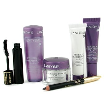 Lancome-Renergie Morpholift R.A.R.E. Set: Day Cream + Serum + Lotion + Emulsion + Mascara + Eyeliner Pencil