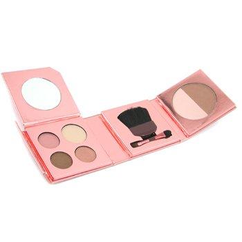 Elizabeth Arden-Bronzing Beauty Kit for Face & Eyes: ( 4x Eyeshadow+ Bronzer & Blush Duo+ 2x Applicator )