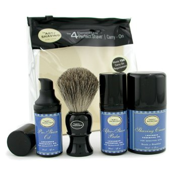 The Art Of Shaving-Carry On Kit - Lavender ( For Sensitive Skin )