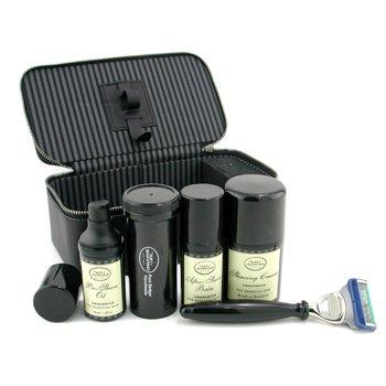 The Art Of Shaving-Travel Kit ( Unscented ): Razor+ Shaving Brush+ Pre-Shave Oil 30ml+ Shaving Cream 50ml+ A/S Balm 30ml+ Case