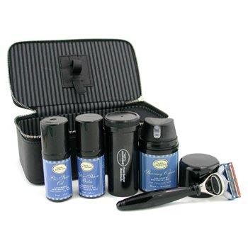 The Art Of Shaving-Travel Kit ( Lavender ): Razor+ Shaving Brush+ Pre-Shave Oil 30ml+ Shaving Cream 50ml+ A/S Balm 30ml+ Case