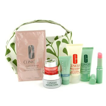 Clinique-Travel Set: Liquid Soap 30ml+ Eye 7ml+ Repairwear Contour 15ml+ City Block Sheer 15ml+ L/S+ Body Butter 40ml+ Mask+ Bag