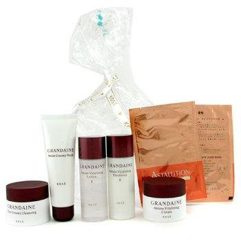 Kose-Grandaine Travel Set: Creamy Wash + Lotion II + Emulsion + Creamy Cleansing + Cream + 2x Eye Masks