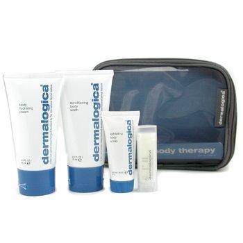 Dermalogica-Body Therapy Skin Kit: Body Wash 75ml+ Hydrating Crm 75ml+ Exfoliating Scrub 21g+ Climate Control Lip Trt 4.5g+ Bag
