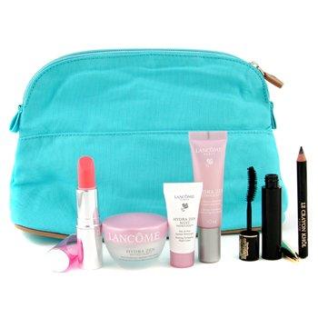 Lancome-Hydrazen Neurocalm Set: Crm 15ml+ Essence 10ml+ Night Crm 5ml+ Mascara+ Khol+ Lipstick+ Bag