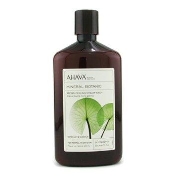 AhavaMineral Botanic Micro-Peeling Cream Wash - Water Lily & Guarana (Normal/ Dry Skin) 500ml/17oz