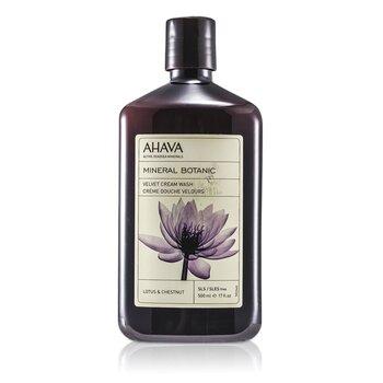 AhavaMineral Botanic Jab�n Crema Aterciopelado - Lotus Flower & Chestnut ( Piel Sensible ) 500ml/17oz